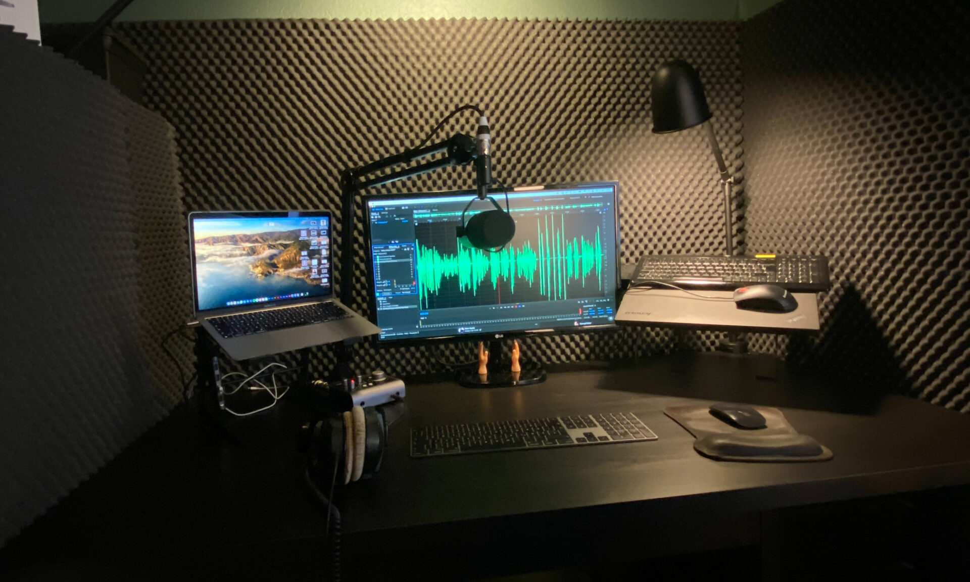 Podcast-Studio von Stefan Schreier